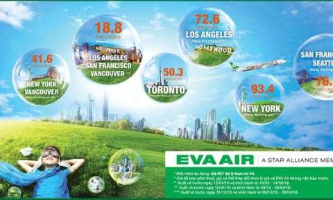 Eva Air: Ưu Đãi Giá Vé Đi Mỹ Và Canada