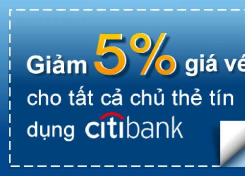 Giam 5% gia ve may bay cho chu the Citibank, HSBC, ANZ
