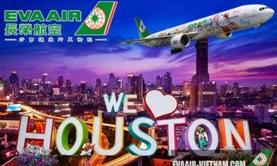 Vé Máy Bay Đi Houston Eva Air Giá Rẻ