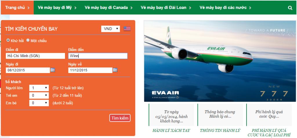 Đặt Mua Ngay Vé Máy Bay Đi Winnipeg Hãng Eva Air
